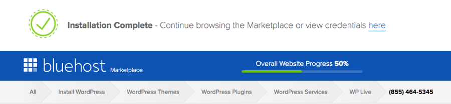 wordpress-install-sucessfully