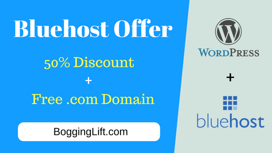 bluehost hosting discount coupon with free domain