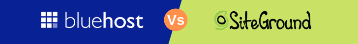 siteground vs bluehost hosting comparision