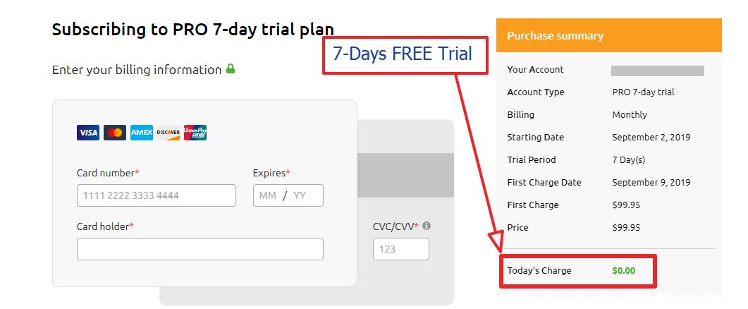 semrush 7 days free trial