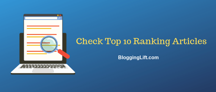 check top 10 ranking articles
