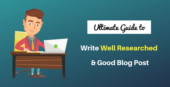 write good blog post fast
