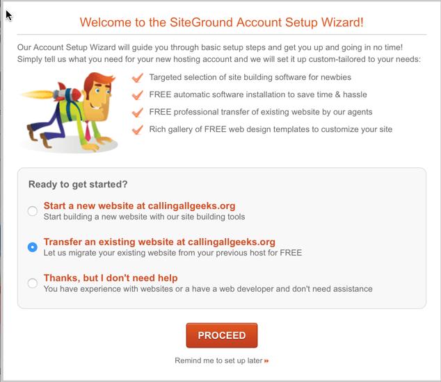 siteground hosting free migration service