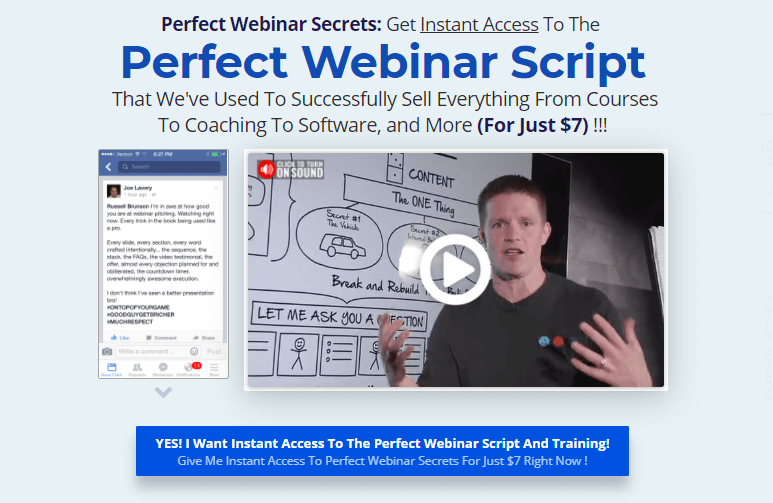 perfect webinar secrets course by russell brunson clickfunnels