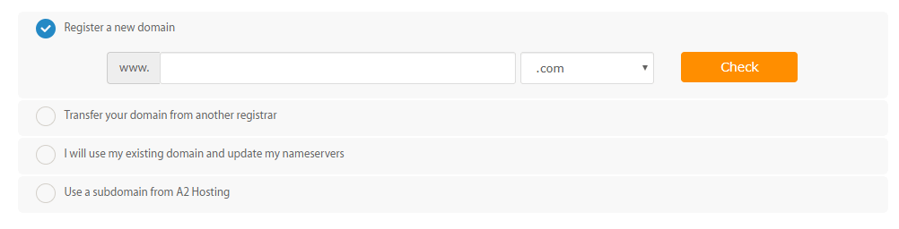 a2 hosting domain name register