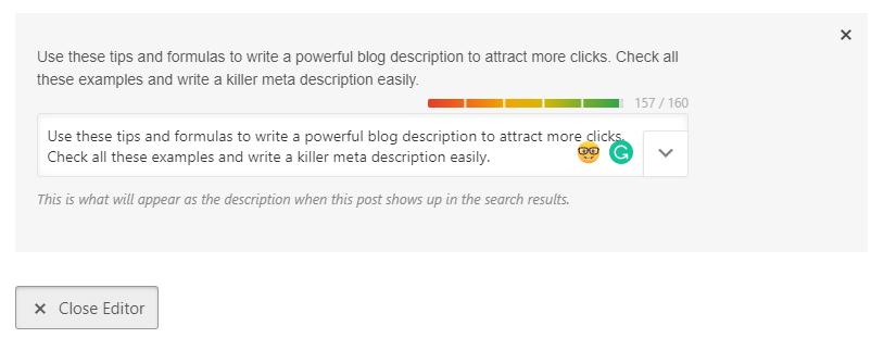 blog post description on wordpress