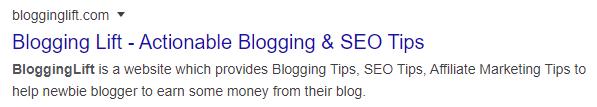 blogging lift blog description