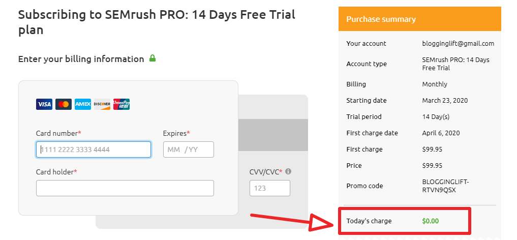 semrush coupon code promo code for 100% discount