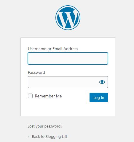 login to wordpress dashboard