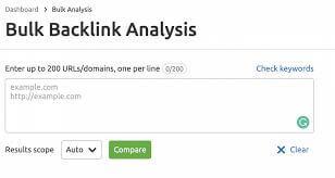 semrush traffic analytics bulk analysis tool
