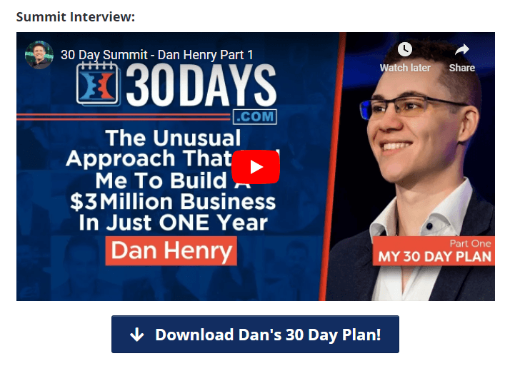 30 days interviews summit by clickfunnels
