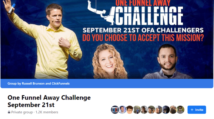 one funnel away challenge member only facebook group