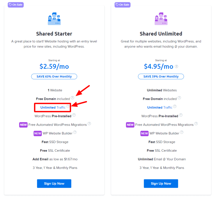 dreamhost hosting pricing plans