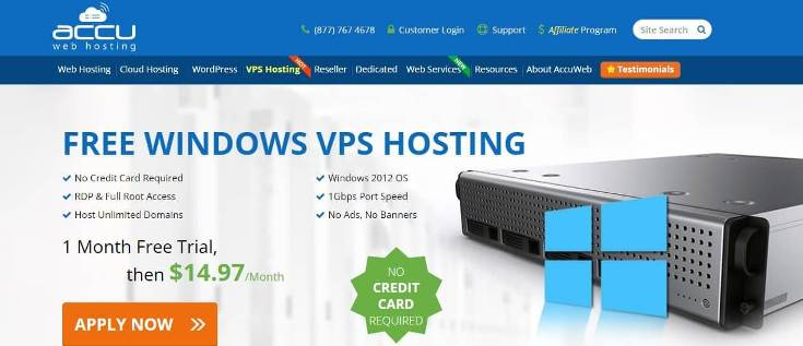 accu web hosting free trial no credit card required