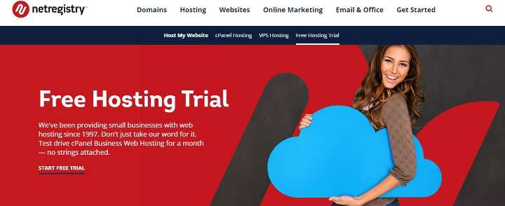 netregistry free trial hosting without credit card
