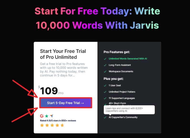 conversion ai free trial step 2