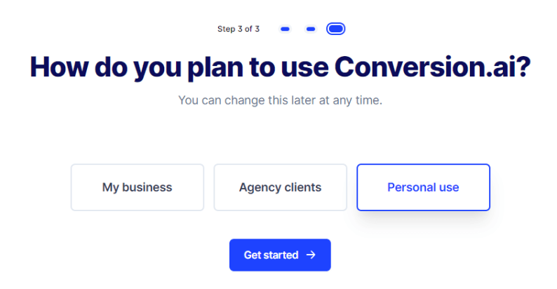 conversion.ai free trial step 5