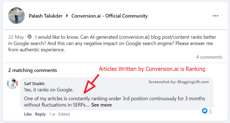 article written by jaris is ranking in 3rd position on Google customer review