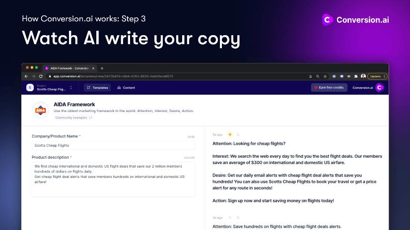 watch conversion ai write your copy