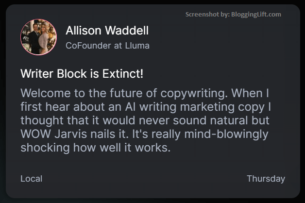 jarvis conversion.ai avoid writers block problem customer review