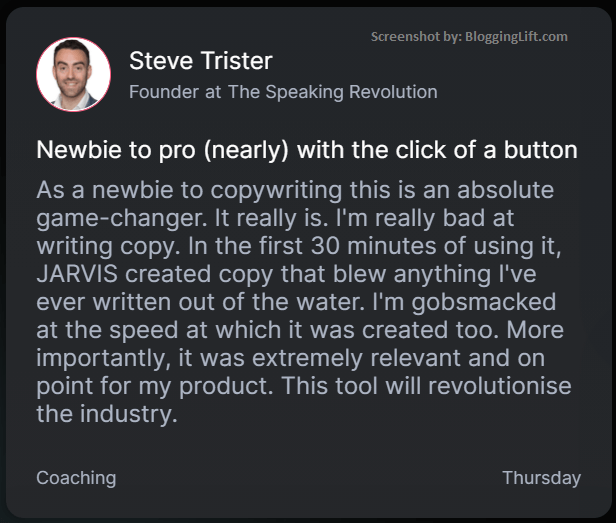 newbie to pro copywriter with conversion.ai customer review