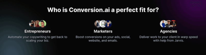 who is conversion.ai a perfect fit for