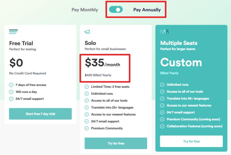 copyai discount on yearly plan