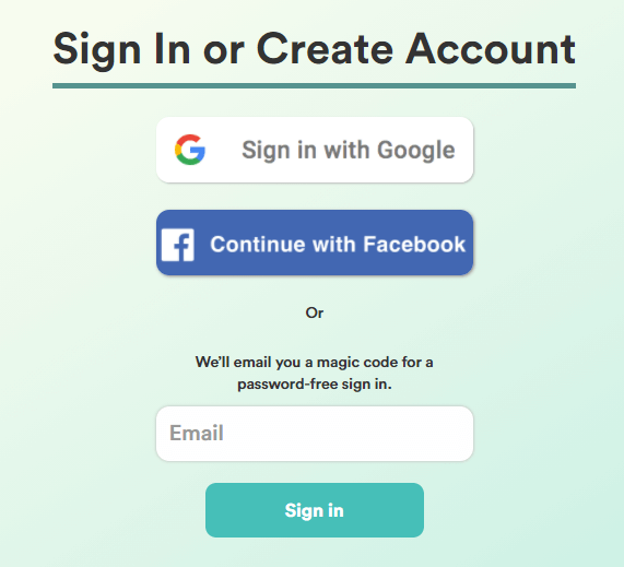 enter email and click login to get free copyai account