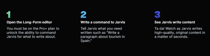 how to write using jarvis ai boss mode commands