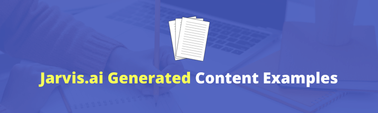 jarvis ai generated content examples live demo