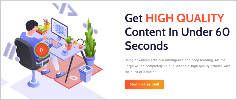 article forge ai content generator software
