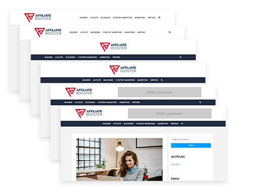 affiliate booster theme header designs layouts