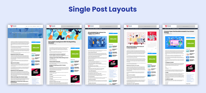 affiliate booster wordpress theme review single post layouts