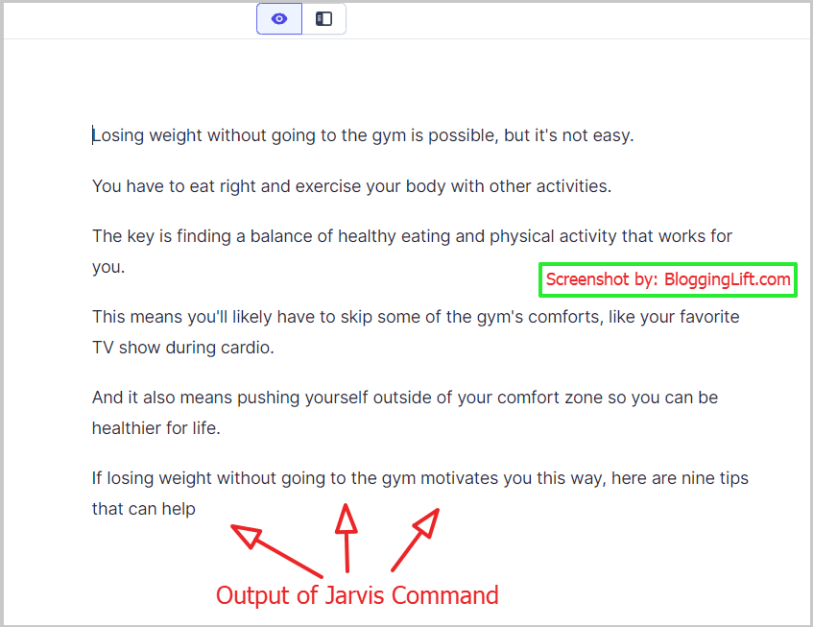 blog post introduction paragraph written by jarvis ai boss mode command