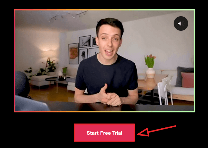 step 1 click on start free trial button to activate passion io free trial